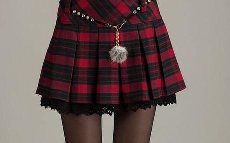 Dámská sukně s kostičkami - 2 barvy