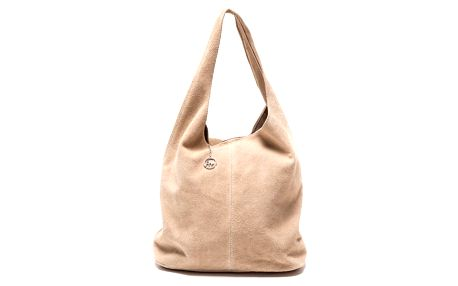 Béžová kožená kabelka Roberta M 885 - doprava zdarma!
