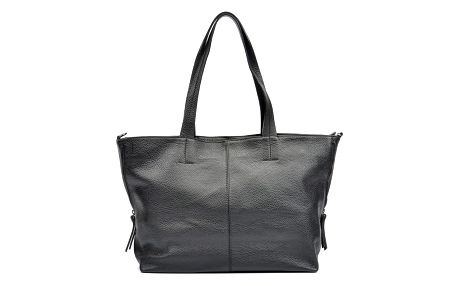 Černá kožená kabelka Roberta M Lola - doprava zdarma!