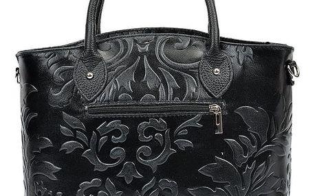 Černá kožená kabelka Renata Corsi Valeriana - doprava zdarma!