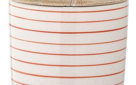 Bloomingville Keramická cukřenka Susie, červená barva, béžová barva, dřevo, keramika