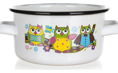 Banquet kastrol mini smaltovaný dia 14cm OWL