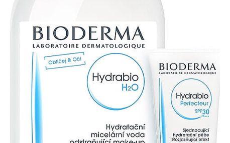 BIODERMA Hydrabio dárkové balení Perfecteur SPF30 40ml +H2O 500ml