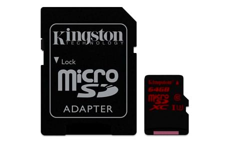 Paměťová karta Kingston 64GB UHS-I U3 (90R/80W) + adapter (SDCA3/64GB) + DOPRAVA ZDARMA