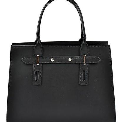 Černá kožená kabelka Mangotti Mariana - doprava zdarma!