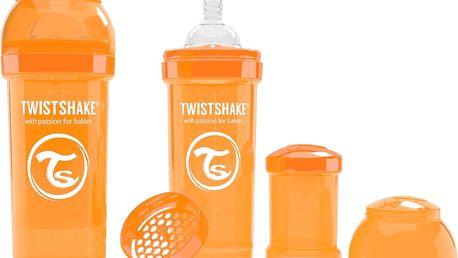 TWISTSHAKE Antikoliková láhev 260ml Oranžová