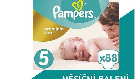 PAMPERS Premium Care 5 Junior 88ks (11-18kg) MEGA Box, MĚSÍČNÍ ZÁSOBA – jednorázové pleny