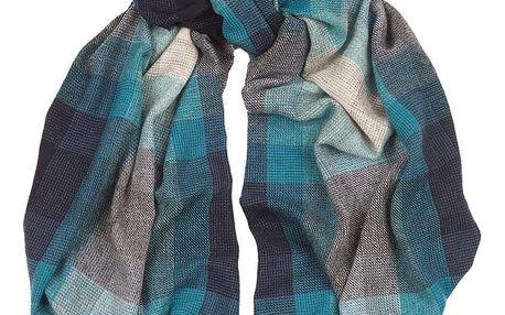 Šátek z kašmíru a merino vlny Hogarth Lazuli, 184x50cm - doprava zdarma!