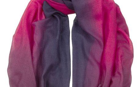Šátek z kašmíru a hedvábí Hogarth Damson, 200x70cm - doprava zdarma!