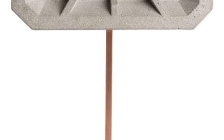 Betonové nástěnné hodiny s detaily v měděné barvě Zuiver Tiktak - doprava zdarma!