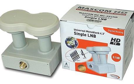 Konvertor Mascom LNB-MCM4S01HD bílý