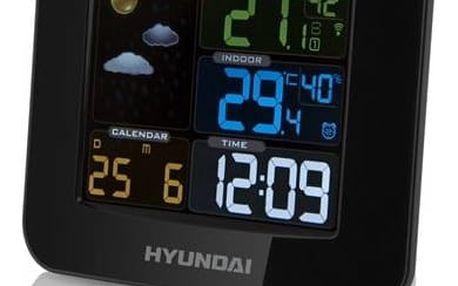Meteorologická stanice Hyundai WS8446 černá + Doprava zdarma