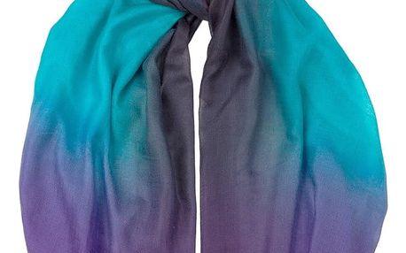 Šátek z kašmíru a hedvábí Hogarth Dip Dye, 200x70cm - doprava zdarma!