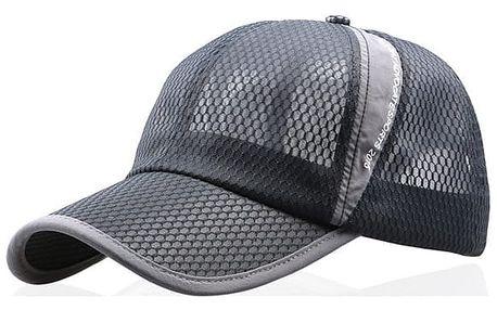 Prodyšná letní kšiltovka - tmavě šedá barva - dodání do 2 dnů