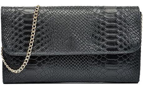 Černá kožená kabelka Isabella Rhea Carol - doprava zdarma!