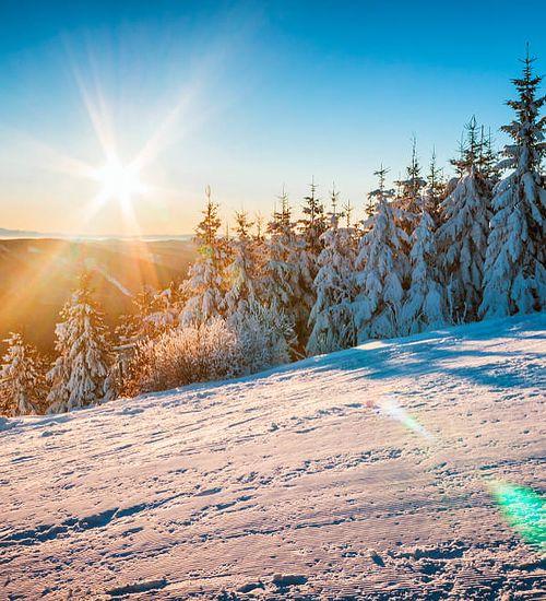 Krušné hory lyžování