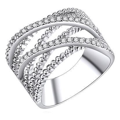 Dámský prsten stříbrné barvy Runaway Criss,, 56