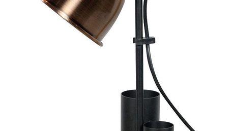 Černo-měděná stolní lampa Red Cartel Study - doprava zdarma!