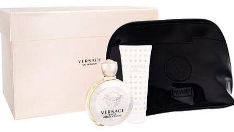 Versace Eros Pour Femme EDP dárková sada W - EDP 100 ml + tělové mléko 100 ml + kosmetická taška