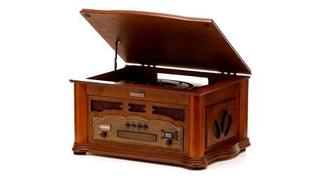 Gramofon Hyundai Retro RTC 315 dřevo + DOPRAVA ZDARMA