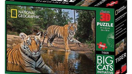 VOG 3D puzzle National Geographic tygr, 500 dílků