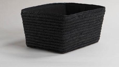 Černý úložný košík z pšeničného výpletu Compactor Hawai, šířka32cm