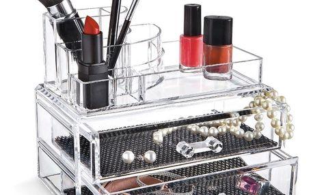 Organizér na kosmetiku s přihrádkami Domopak Make Up