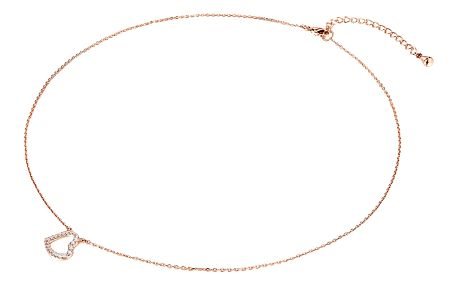 Dámský náhrdelník v barvě růžového zlata s motivem srdíčka Runaway