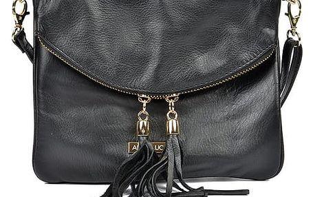 Černá kožená kabelka Anna Luchini Veronica - doprava zdarma!