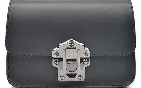 Černá kožená kabelka Roberta M Estelle - doprava zdarma!
