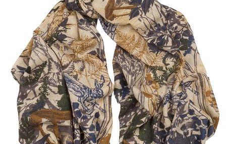 Kašmírový šátek Hogarth Woodland, 180x70cm - doprava zdarma!