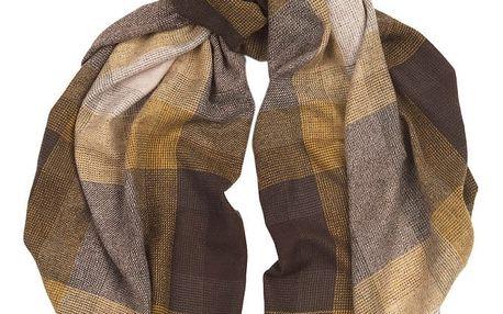 Šátek z kašmíru a merino vlny Hogarth Amber, 184x50cm - doprava zdarma!