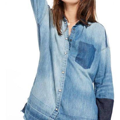 Scotch&Soda modrá denimová košile Customized Denim Shirt