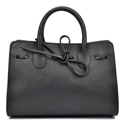 Černá kožená kabelka Anna Luchini Lisa - doprava zdarma!