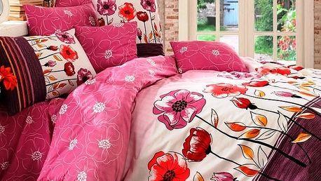 BedTex Bavlněné povlečení Amanda lila, 140 x 200 cm, 70 x 90 cm