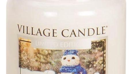 VILLAGE CANDLE Svíčka ve skle Let it Snow - velká, krémová barva, sklo, vosk