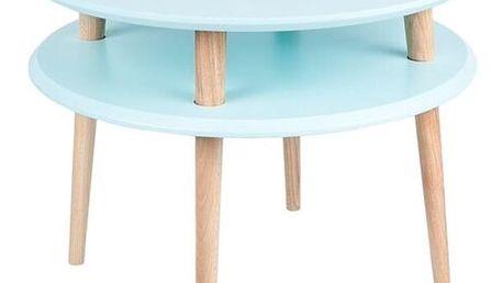 Světle tyrkysový konferenční stolek Ragaba UFO,Ø57cm - doprava zdarma!