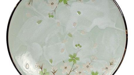 Kameninový talíř Tokyo Design Studio Green Cosmos,ø19,5cm