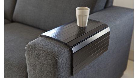 Černá dřevěná područka na pohovku De Eekhoorn Tray XL