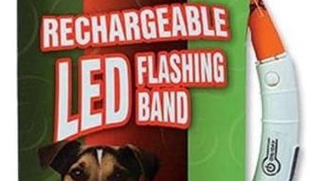 Obojek Dog Fantasy LED světelný 45cm oranžový