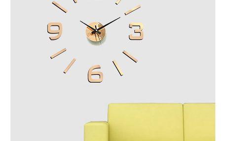 StarDeco Nástěnné hodiny bronzová, pr. 60 cm