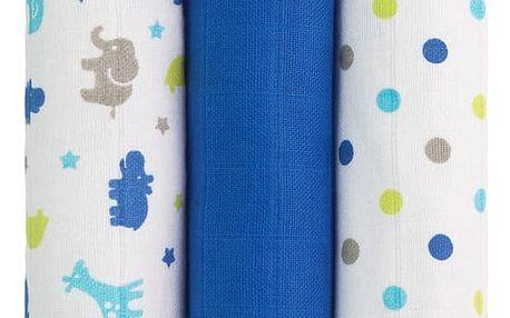 T-TOMI Tetra pleny, modré žirafy, sada 3 kusů - Top kvalita