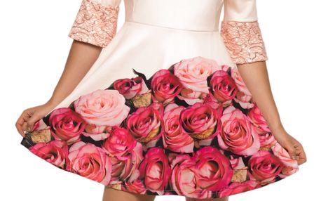 Culito from Spain meruňkové šaty Bouquet Rosa