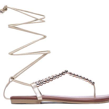 Dámské zlaté sandály Paloma 6122