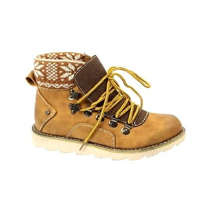 Značkové dámské kotníkové boty brown