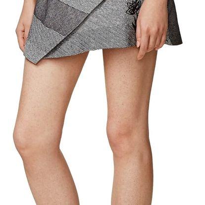 Desigual šedá asymetrická sukně Mireia