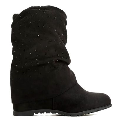 Dámské černé kotníkové boty Carberry 01