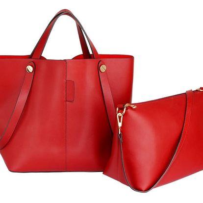 SET: Dámská červená kabelka Brenda 198