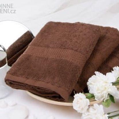XPOSE ® Froté ručník VERONA - tmavě hnědá 50x90 cm