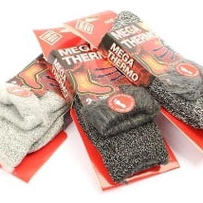 Zateplené pánské ponožky MEGA-THERMO 3 páry